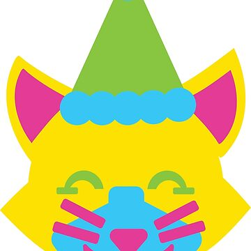 Happy Clown Cat by awkwarddesignco