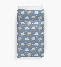 Kawaii Stormy Weather Duvet Cover