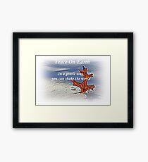 Peace on earth. Framed Print