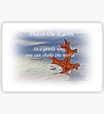 Peace on earth. Sticker