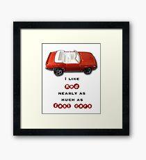 Fast red cars Framed Print