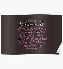 I'm an Introvert  Poster