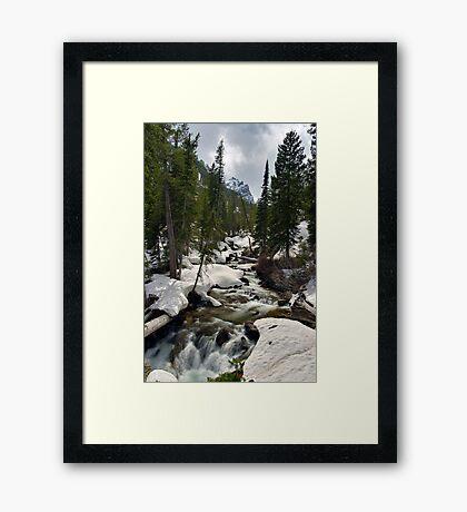 Cascades - On the Way to Hidden Falls Framed Print
