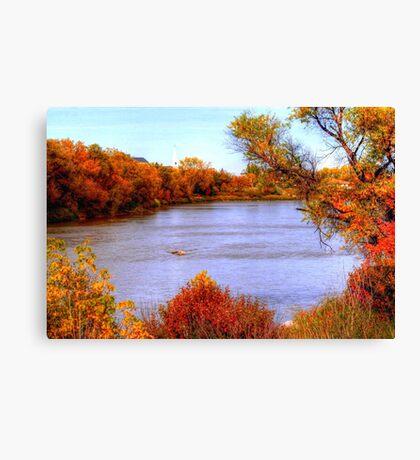 Autumn on the Assiniboine Canvas Print