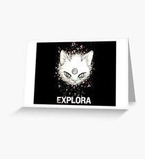Gato místico Greeting Card