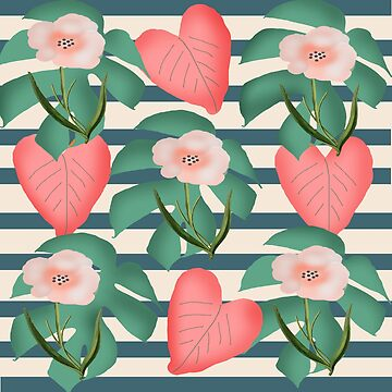 flower print and leaves by susana-art