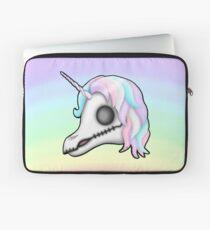 My Little Dead Unicorn | Unicorn Skull | Pastel Rainbow Laptop Sleeve