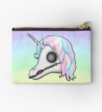 My Little Dead Unicorn | Unicorn Skull | Pastel Rainbow Zipper Pouch