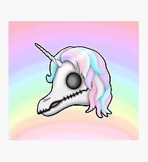 My Little Dead Unicorn | Unicorn Skull | Pastel Rainbow Photographic Print