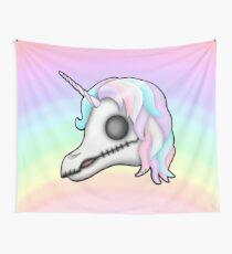 My Little Dead Unicorn | Unicorn Skull | Pastel Rainbow Wall Tapestry