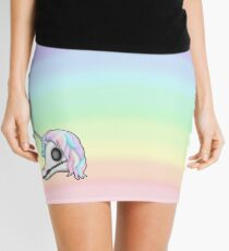 My Little Dead Unicorn | Unicorn Skull | Pastel Rainbow Mini Skirt