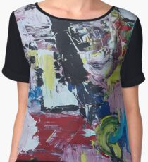 Madness, acrylic painting Chiffon Top