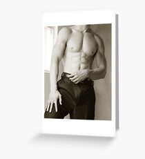 Suit no tie Greeting Card