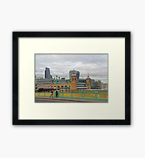 Crossing Bridges, London, United Kingdom Framed Print