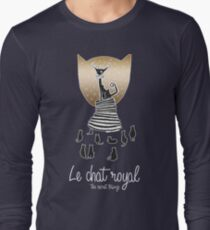 Le Chat Royal - Inktober 2017 Collection Black Gold Long Sleeve T-Shirt