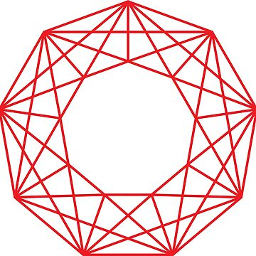 RED NONAGON by keplercat