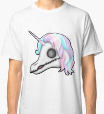 My Little Dead Unicorn | Rainbow Unicorn Skull | White Classic T-Shirt