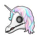 My Little Dead Unicorn | Rainbow Unicorn Skull | White by LolitasAdorned
