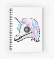 My Little Dead Unicorn | Rainbow Unicorn Skull | White Spiral Notebook