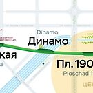 Ekaterinburg metro map by Pasha Omelekhin