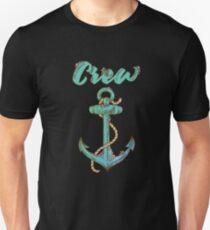 Crew Anchor Nautical Unisex T-Shirt