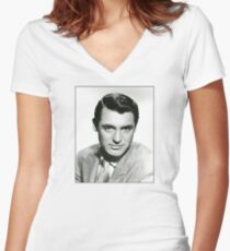 Cary Grant Photo Women's Fitted V-Neck T-Shirt