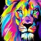 Psychedelic Lion by Rupabandhu