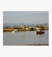 Soft and Calm,  Estuary in Topsham Photographic Print