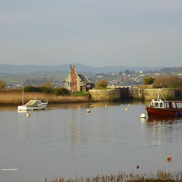 Soft and Calm,  Estuary in Topsham by Vaengi