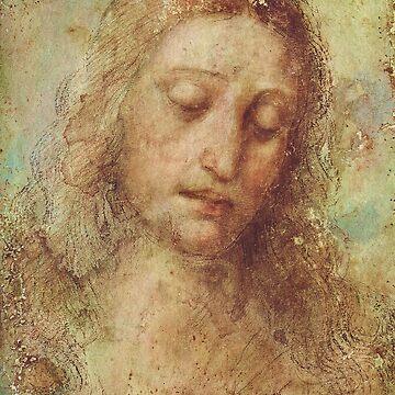 da Vinci's Head of Christ  by dianegaddis