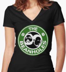 The Beanholes Logo Women's Fitted V-Neck T-Shirt