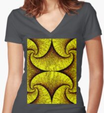 Hypnotzd Abstract 86-1 Women's Fitted V-Neck T-Shirt