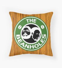 The Beanholes Woodgrain Throw Pillow