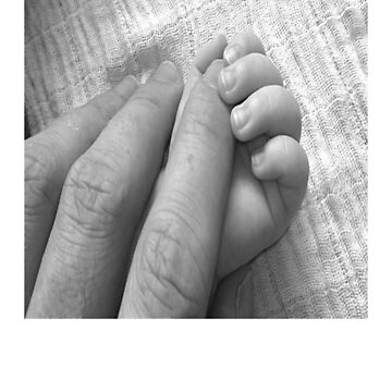 Father & Baby Hand in Hand by RSTeezandThingz