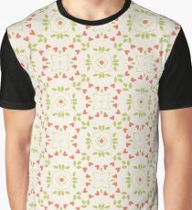 abstract art floral flowers seamless colorful repeat pattern Graphic T-Shirt