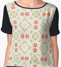 abstract flowers pattern vintage seamless colorful repeat Chiffon Top