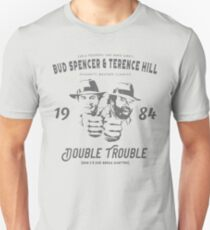 Bud Spencer & Terence Hill T Shirt, Vintage 1984 Spaghetti Western, Double Trouble Unisex T-Shirt