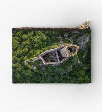 Old medieval fortress Ortenbourg aerial view from drone Studio Pouch