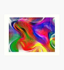 Abstract pattern digital painting electronic love no #2 Art Print