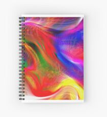 Abstract pattern digital painting electronic love no #2 Spiral Notebook