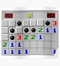 Minesweeper Windows XP Retro Game Poster