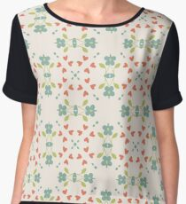vintage abstract colorful flowers seamless repeat pattern Chiffon Top