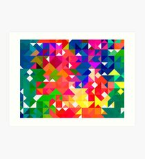 Abstract pattern digital painting electronic love no3 Art Print