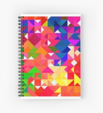 Abstract pattern digital painting electronic love no3 Spiral Notebook