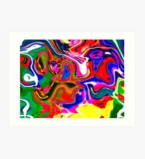 Abstract pattern digital painting electronic love no4 Art Print