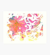 Abstract pattern digital painting electronic love no5 Art Print