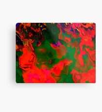 Abstract pattern digital painting electronic love no6 Metal Print
