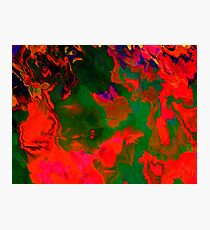 Abstract pattern digital painting electronic love no6 Photographic Print