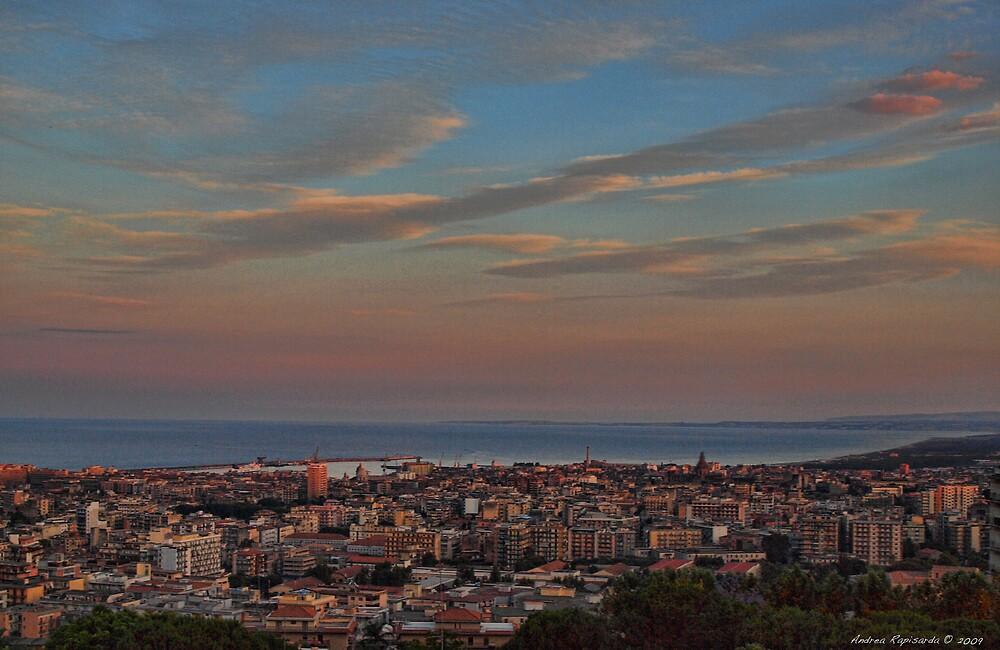 Catania at sunset by Andrea Rapisarda