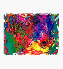 Abstract pattern digital painting electronic love no7 Photographic Print
